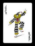 Jokeru kolorowy karta do gry, Zdjęcia Stock