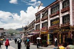 Jokhang Świątynny kora Lhasa Tybet Obrazy Royalty Free