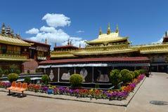 Jokhang-Kloster in Lhasa Stockbild