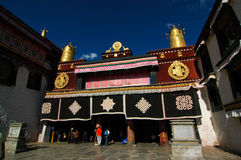 Jokhang Temple. Front entrance of Jokhang Temple Royalty Free Stock Image