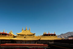 Jokhang Temple of Barkhor Square in Lhasa Tibet Royalty Free Stock Images