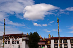 Jokhang Temple and cloudscape Royalty Free Stock Photography