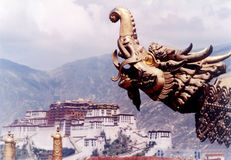 Jokhang temple corner Stock Photos