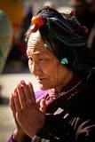 Jokhang Temple Devotee. Lhasa Tibet Royalty Free Stock Photos