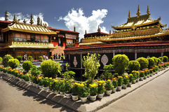 Jokhang Temple. The good view of Jokhang Temple royalty free stock images