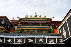 Jokhang temple in Lhasa, Tibet Royalty Free Stock Photo