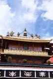 Jokhang temple, Tibet. Golden roof of Jonkhang temple, Lhasa, Tibet Royalty Free Stock Images