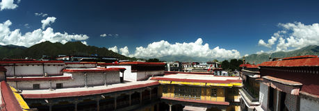 Jokhang Temple. On the top of Jokhang Temple royalty free stock images