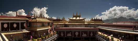Jokhang Temple. On the top view of Jokhang Temple stock image
