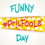 Joking April Fools Day design. Funny April Fools Day. Joking creative design with torn paper elements. Vector template Stock Photo