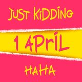 Joking April Fools Day design Stock Images