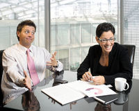Joking business partners stock photo