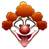 Joking circus clown head Royalty Free Stock Photos