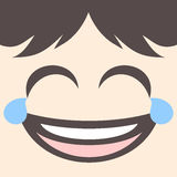 Joking face draw Royalty Free Stock Photos