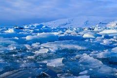 Jokkullsarlon, Iceland, Icy Lake stock images