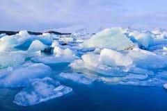 Jokkullsarlon, Iceland, Lodowaty jezioro Zdjęcie Royalty Free
