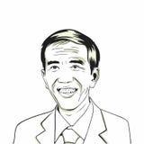 Joko Widodo, Jokowi Président indonésien Ligne Art Vector Drawing Illustration Image libre de droits