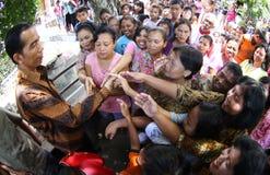 Jokowi and citizen royalty free stock photos