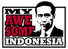 Jokowi Dodo, my awesome Indonesian president. He is the seventh President of Indonesia, since 2014 Royalty Free Stock Images