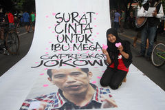 Jokowi for president Stock Photography