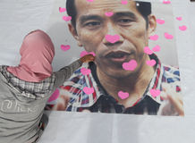 Jokowi for president Royalty Free Stock Image