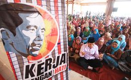 Jokowi for president Royalty Free Stock Images