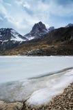 Jokul avec le lac figé images libres de droits