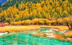 Jokul et lac à Daocheng Yading, Sichuan, porcelaine Photos libres de droits