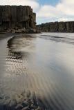 Jokulsa en fjollumflod i den Jokulsargljufur nationalparken, Island royaltyfria bilder