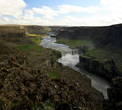 Jokulsa a Fjollum. Glacial river from Dettifoss Iceland's most powerfull waterfall Stock Image