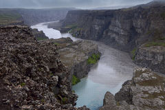 Jokulsa river canyon, Island Stock Photography