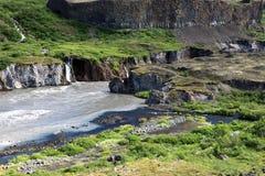 Jokulsargljufur Nationaal Park stock afbeeldingen