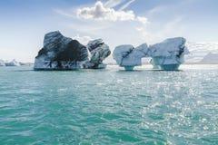 Jokulsarlon冰山冰岛 库存照片