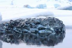 Jokulsarlon冰川盐水湖,冰岛 库存照片