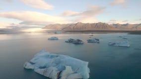 Jokulsarlon冰川盐水湖冰岛 股票录像