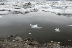 Jokulsarlon冰川盐水湖,冰岛 库存图片