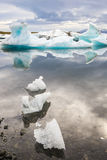 Jokulsarlon冰川盐水湖,冰岛 免版税库存图片