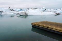 Jokulsarlon冰河盐水湖 库存照片