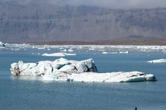 Jokulsarlon冰盐水湖。 免版税图库摄影