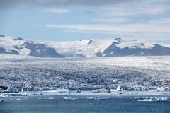 Jokulsarlon冰盐水湖,冰岛。 免版税库存照片
