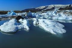 Jokulsarlon是一个大冰河湖在冰岛 图库摄影