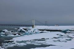 Jokulsarlon - αυστηρό χειμερινό τοπίο Στοκ φωτογραφίες με δικαίωμα ελεύθερης χρήσης