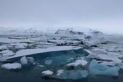 Jokulsarlon - αυστηρό χειμερινό τοπίο Στοκ εικόνες με δικαίωμα ελεύθερης χρήσης