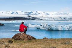 Jokulsarlon - ледниковая лагуна в Исландии Стоковое Изображение