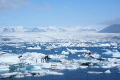 Jokulsarlon. Icebergs floating in Jokulsarlon lagoon, Iceland Stock Images