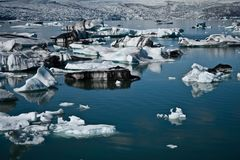 Jokulsarlon. Glacier lagoon in Iceland royalty free stock photography