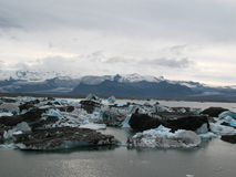 Jokulsarlon, beautiful icelandic landscape with glacier Stock Images