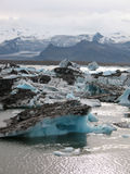 Jokulsarlon, bello paesaggio islandese con il ghiacciaio Fotografia Stock Libera da Diritti