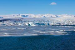 Jokulsarlon, blue ice lagoon. Iceland Royalty Free Stock Photo
