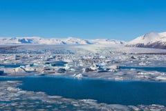 Jokulsarlon, blue ice lagoon. Iceland Royalty Free Stock Photos